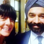 Pseudomyxoma Survivor's Dawn Green and Harpal Kumar from Cancer Research UK
