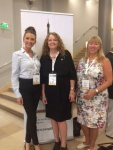 Susan with representatives from the nursing team form the Christie in Manchester, PSOGI 2018